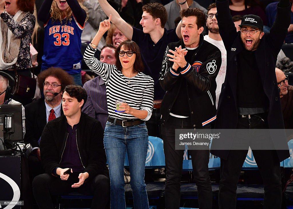 Celebrities Attend Charlotte Hornets  Vs. New York Knicks - November 25, 2016