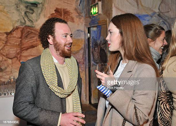Ezra Konvitz and guest attend the book launch of Art Studio America at ICA on November 11, 2013 in London, England.
