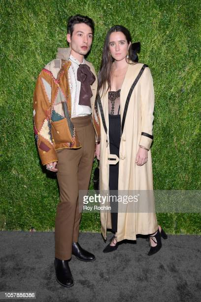 Ezra Miller and Emily Bode attend the CFDA / Vogue Fashion Fund 15th Anniversary Event at Brooklyn Navy Yard on November 5 2018 in Brooklyn New York