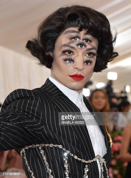 Ezra Miller arrives for the 2019 Met Gala at the Metropolitan Museum of Art on May 6 in New York. - The Gala raises money for the Metropolitan Museum...