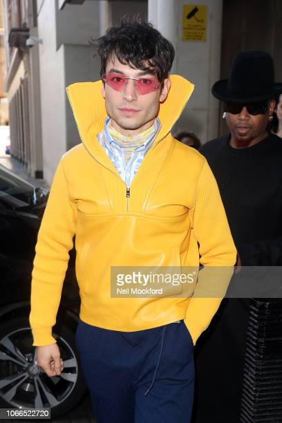 Ezra Miller at BBC Radio One promoting new movie 'Fantastic Beasts The Crimes of Grindelwald' on November 12 2018 in London England