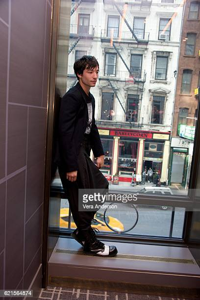 Ezra Miller at the 'Fantastic Beasts and Where to Find Them' Press Conference at the Four Seasons Downtown on November 6 2016 in New York City