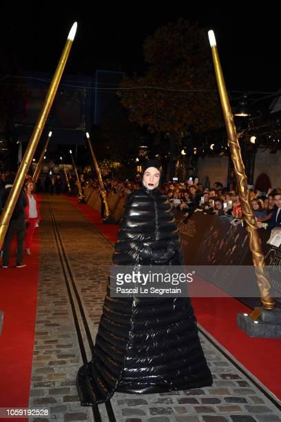 Ezra Miller attends 'Fantastic Beasts The Crimes Of Grindelwald' World Premiere at UGC Cine Cite Bercy on November 8 2018 in Paris France