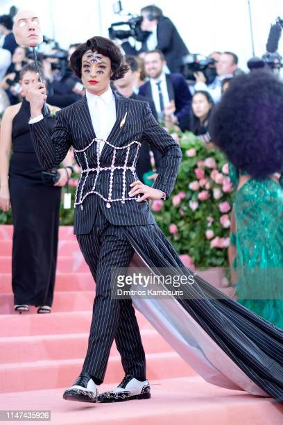 Ezra Miller attends The 2019 Met Gala Celebrating Camp: Notes on Fashion at Metropolitan Museum of Art on May 06, 2019 in New York City.