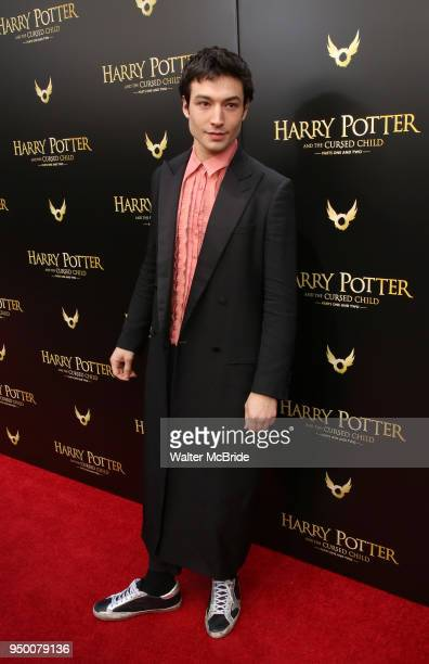 Ezra Miller attends the Broadway opening day performance of 'Harry Potter and the Cursed Child Parts One and Two' at The Lyric Theatre on April 22...