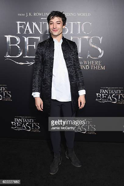 Ezra Miller attends the Fantastic Beasts And Where To Find Them World Premiere at Alice Tully Hall Lincoln Center on November 10 2016 in New York City