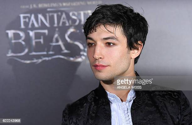 Ezra Miller attends the 'Fantastic Beasts and Where to Find Them' World Premiere at Alice Tully Hall Lincoln Center in New York on November 10 2016 /...
