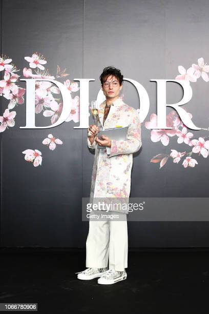 Ezra Miller attends the photocall at the Dior Pre Fall 2019 Men's Collection on November 30 2018 in Tokyo Japan