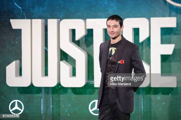 Ezra Miller during the 'Justice League' photocall at The College on November 4 2017 in London England