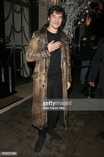 Ezra Miller leaving Claridge's Hotel on November 14 2016 in London England