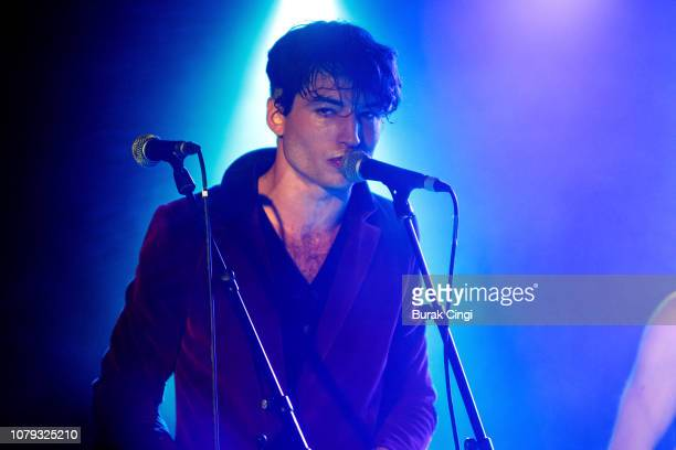 Ezra Miller of Sons of an Illustrious Father performs at Omeara on December 08, 2018 in London, England.