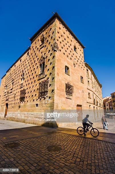 façade casa de las conchas em salamanca, espanha - salamanca imagens e fotografias de stock
