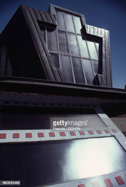 Façade extérieure de la Maison du Futur érigée par la Fondation Frank Lloyd Wright en Arizona et l'architecte Charles Schiffner en 1979 pour le...