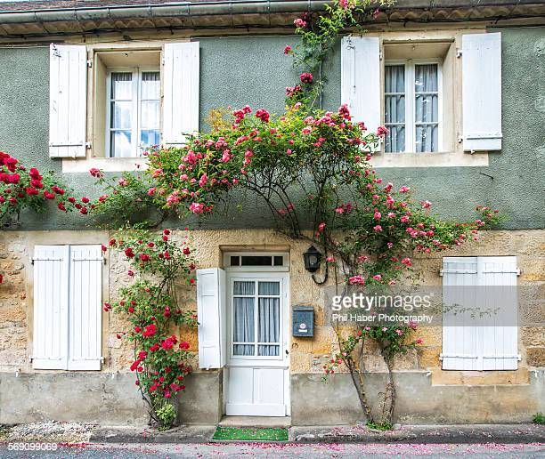 façade of house, saint-cyprien - phil haber stock pictures, royalty-free photos & images