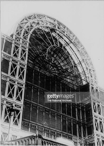 Façade of the Great Exhibiton building at Crystal Palace Festival of Britain 1951
