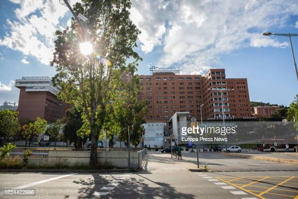 Façade of the Vall d'Hebron Hospital while the city continues in phase zero of the deescalation in the ninth week of the state of alarm decreed by...