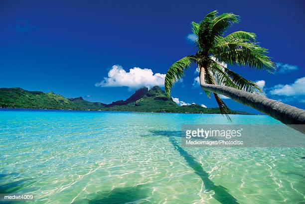 Faanui Bay, as seen from beach on Bora Bora, French Polynesia