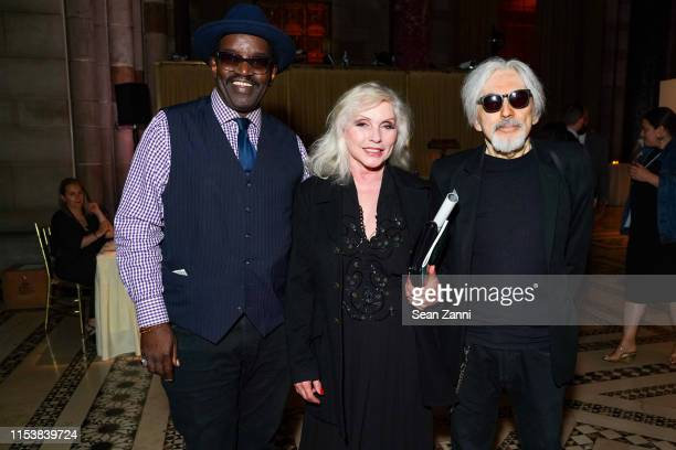 Fab 5 Freddy Debbie Harry and Chris Stein attend The Gordon Parks Foundation 2019 Annual Awards Dinner And Auction at Cipriani 42nd Street on June 04...