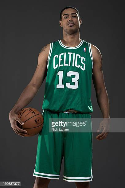 Fab Melo of the Boston Celtics poses for a portrait during the 2012 NBA Rookie Photo Shoot at the MSG Training Center on August 21 2012 in Tarrytown...