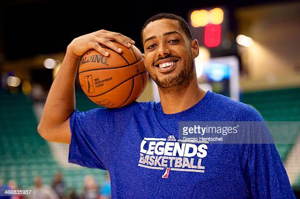 Fab Melo of the Texas Legends warms up before the game against Rio Grande Valley Vipers on February 1 2014 at Dr Pepper Arena in Frisco Texas NOTE TO...