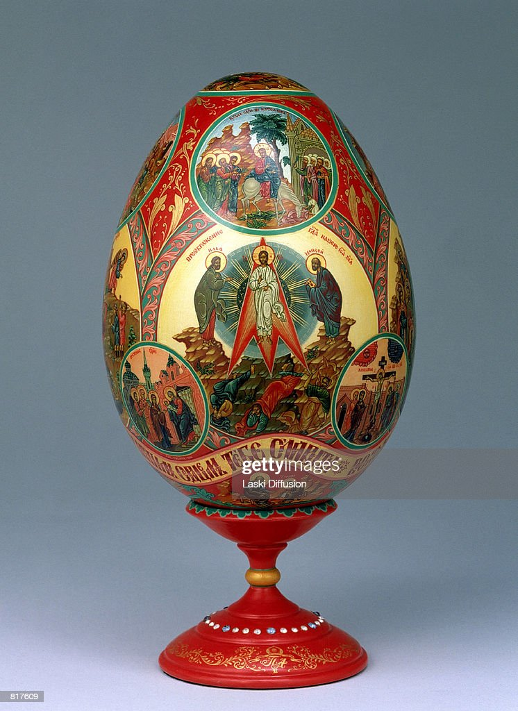 Faberge egg collection at kremlin museum pictures getty images a faberge egg from the kremlin museum collection in moscow russia march 2001 negle Images