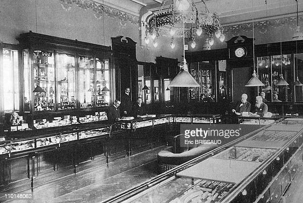 Faberge egg shop in Saint Petersburg, Russia in September, circa 1919.