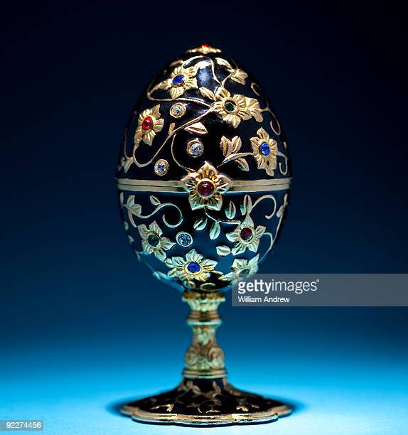 Faberge' egg with gold trim