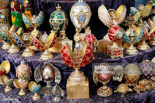 Faberge style eggs.