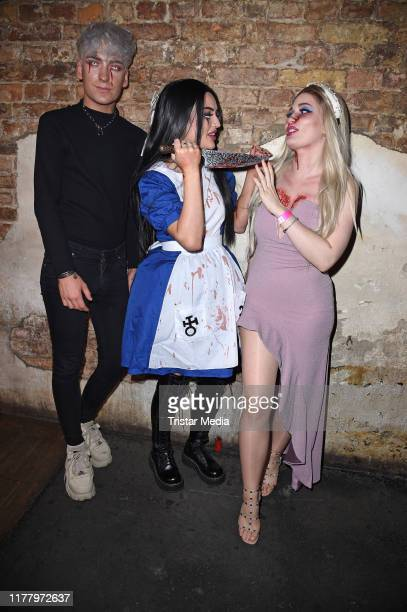 Fabi Wndrlnd Naomi Jon and Sonny Loops during the Wonderland after Dark by NYX Professional Makeup Halloween Party at Club Schwuz on October 24 2019...
