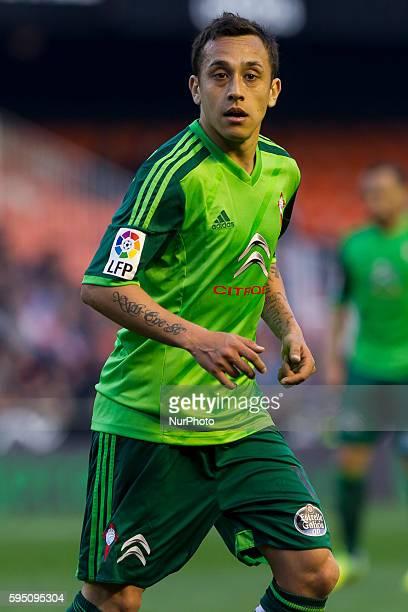 Fabian Ariel Orellana Valenzuela of Celta de Vigo during La Liga match between Valencia CF and Celta de Vigo at Mestalla Stadium in Valencia on March...