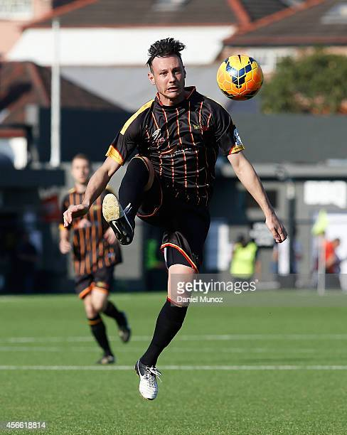 Fabian Barbiero of Metro Stars FC controls the ball during the National Premier Leagues Grand Final match between Bonnyrigg White Eagles and Metro...