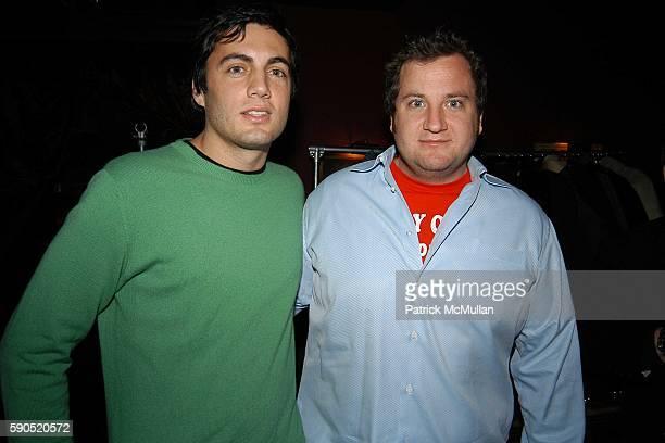 Fabian Basabe and Chris Miller attend Kim Garfunkel performance at Au Bar on January 17 2005 in New York City