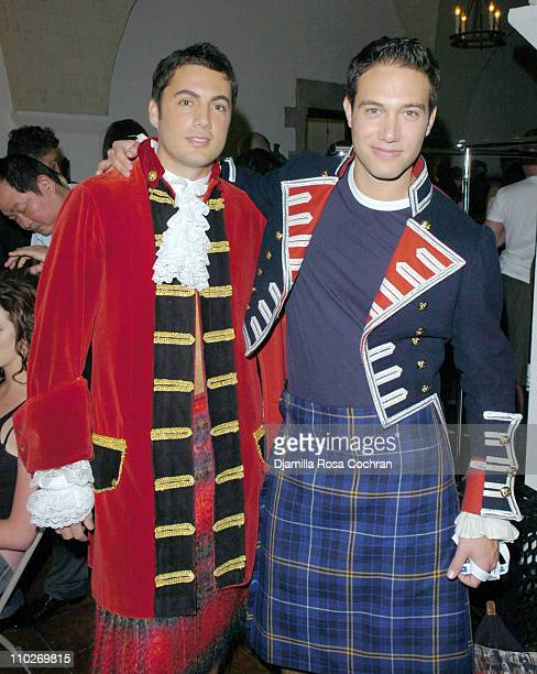 """Fabian Basabe and Eric Villency during Johnnie Walker Presents """"Dressed to Kilt"""" - Arrivals and Backstage at Synod House at St. John the Divine..."""