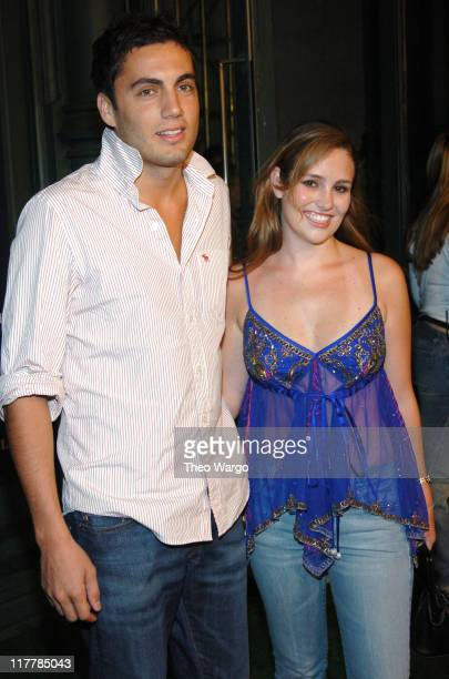 Fabian Basabe and Gillian Hearst during American Eagle Outfitters Rocks New York with a Back to School Tailgate Party at American Eagle Store in New...