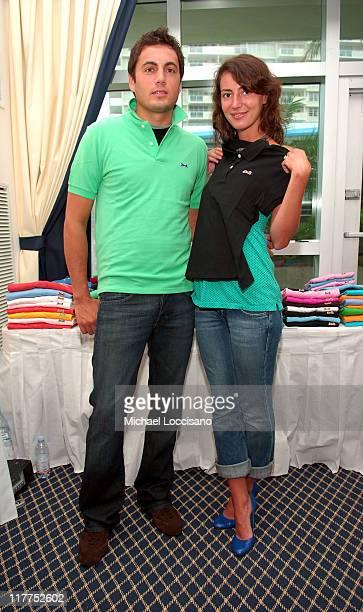 Fabian Basabe and Martina Basabe at Le Tigre during 2005 MTV VMA Ocean Drive Magazine Lounge Suites Day 1 at Ritz Carlton in Miami Florida United...