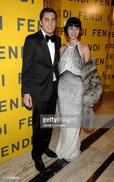 Fabian Basabe and Martina Basabe during Fendi Presents The All Hollows Eve Party at 25 Broadway in New York City New York United States