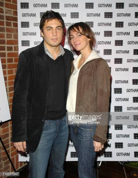 Fabian Basabe and Martina Basabe during Gotham Magazine Celebrates Claire Danes at Hudson Hotel in New York City New York United States