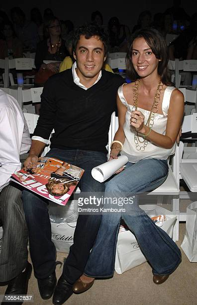 Fabian Basabe and Martina Basabe during Olympus Fashion Week Spring 2006 Esteban Cortazar Front Row and Backstage at Bryant Park in New York City New...