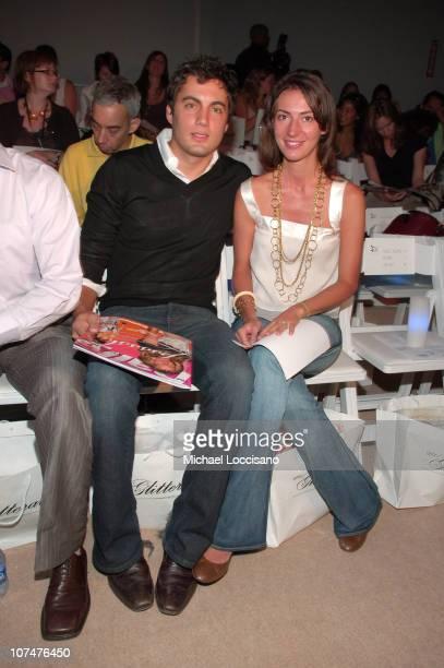 Fabian Basabe and Martina Basabe during Olympus Fashion Week Spring 2006 Esteban Cortazar at Bryant Park in New York City New York United States