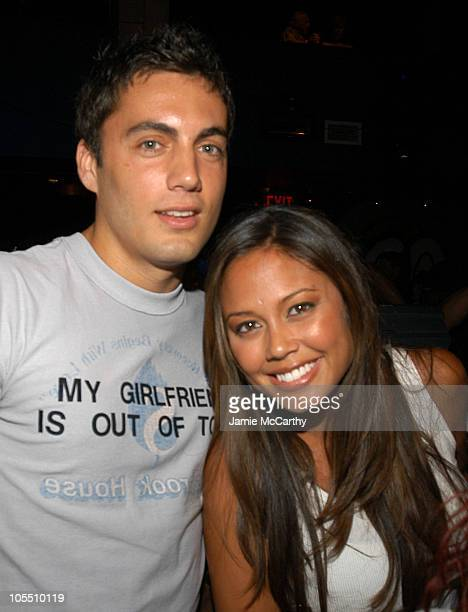 Fabian Basabe and Vanessa Minnillo during FX's Rescue Me New York Screening After Party at Crobar in New York City New York United States