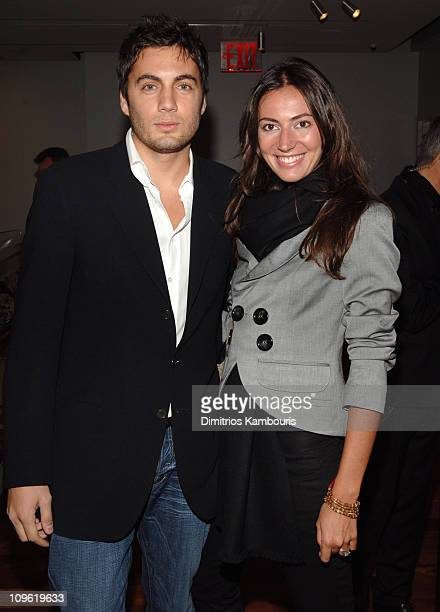 Fabian Basabe and wife Martin during Grand Opening of La Maison Unique Longchamp in Soho at 132 Spring Street in New York City New York United States