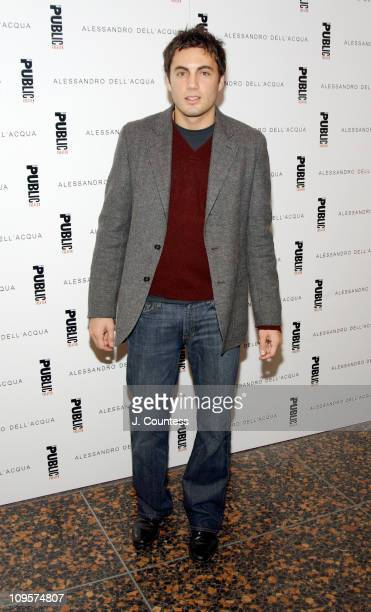 Fabian Basabe during Alessandro Dell'Acqua Celebrates the Opening of his First US Flagship Store With Public Theater BashFashion on Stage at The...