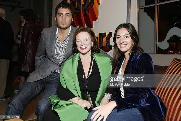 "Fabian Basabe, Kathy Sloan, and Martina Basabe during The 9th Annual SCAD Savannah Film Festival- ""The Three Burials of Melquiades Estrada"" Screening..."