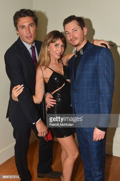 Fabian Basabe Rachel Heller and Kyle Faro attend the Galerie Gmurzynska Dinner in Honor of Jean Pigozzi at the Penthouse at the Faena Hotel Miami...