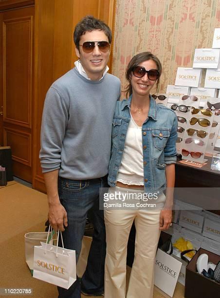 Fabian Basabe wearing Marc Jacobs 016S Sunglasses and Martina Basabe wearing Marc Jacobs Rachel Sunglasses