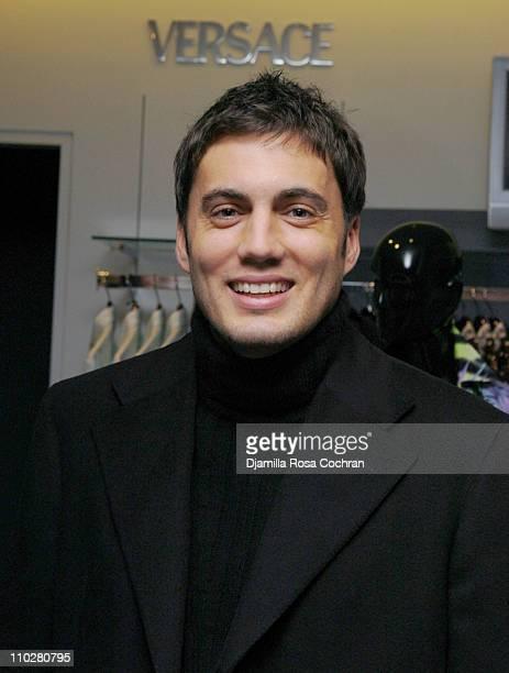 Fabian Basabe wearing Versace during Gotham Magazine Celebrates Versace December 8 2005 at Saks Fifth Avenue in New York City New York United States