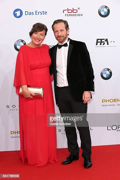 Fabian Busch and his wife Sunny Scheucher attend the Lola - German Film Award 2016 on May 27, 2016 in Berlin, Germany.