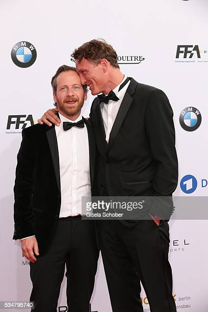 Fabian Busch and Oliver Masucci attend the Lola - German Film Award 2016 on May 27, 2016 in Berlin, Germany.