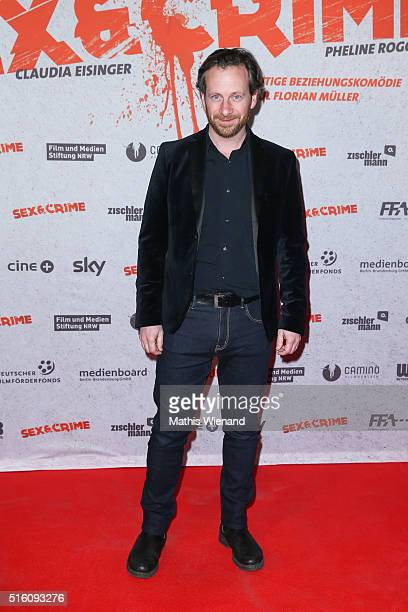 Fabian Busch attends the 'Sex Crime' Cologne Premiere at Cinedome Mediapark on March 16 2016 in Cologne Germany