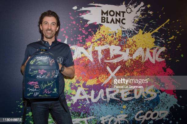 Fabian Cancellara attends Montblanc X Laureus Sport For Good photocall at Hotel Hermitage during 2019 Laureus World Sports Awards on February 17 2019...